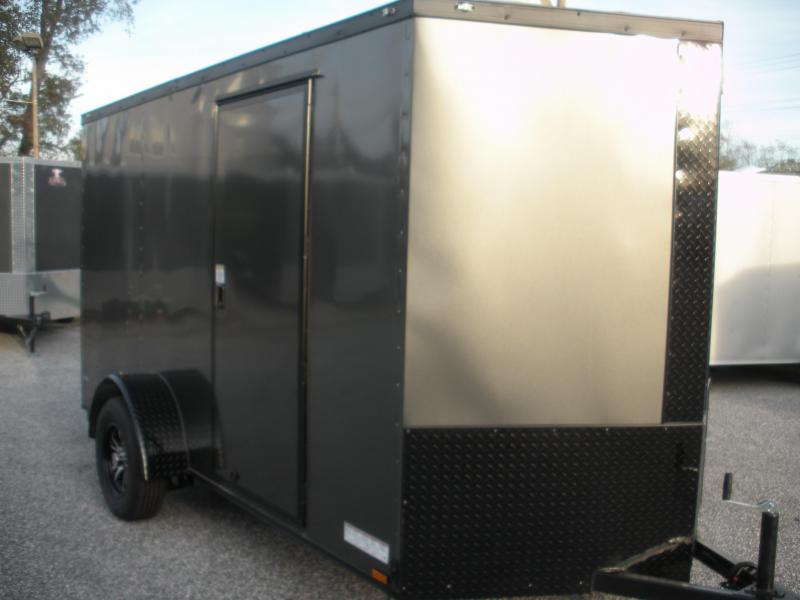Due Mid March * 2021 Anvil 6' X 12' Enclosed Charcoal With BLACKOUT Package Cargo Trailer