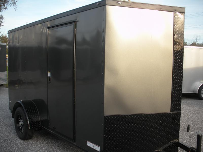 Due Early May* 2021 Anvil 6' X 12' Enclosed Charcoal With BLACKOUT Package Cargo Trailer