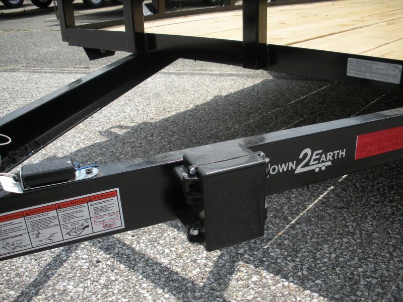"2020 Down 2 Earth Trailers 76"" X 16' 7K Tandem Axle Utility Trailer"