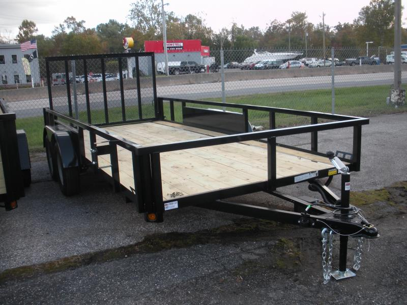 "2020 Quality Steel and Aluminum 82"" X 16' Tandem Axle Utility Trailer"