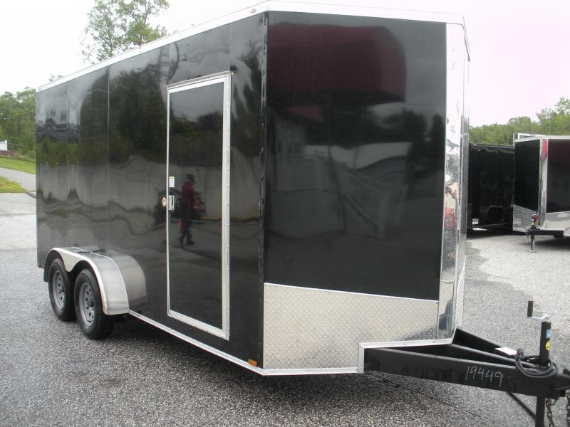 "2020 Spartan 7' X 16' *Screwless .030 Black Metal*7' Interior*60"" Triple Tube Tongue* Enclosed Cargo Trailer"