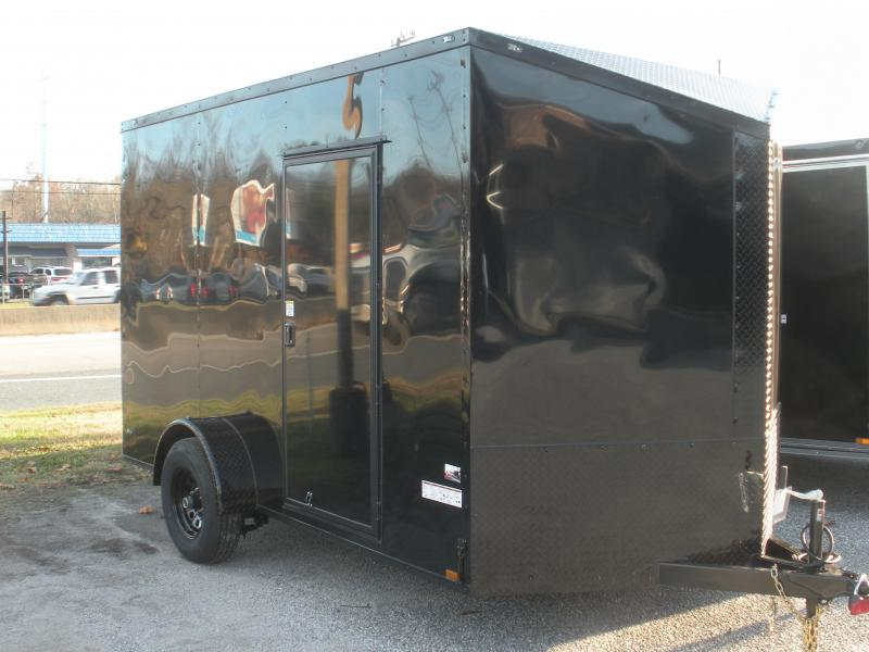 2021 Anvil 7' X 12' X 7' Hgt. 5K Single Brake Axle Slanted V Nose Black Trim Enclosed Cargo Trailer