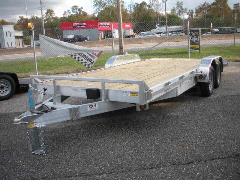 "2021 Quality Steel and Aluminum 83"" X 18' 7K Aluminum Open Car / Racing Trailer"