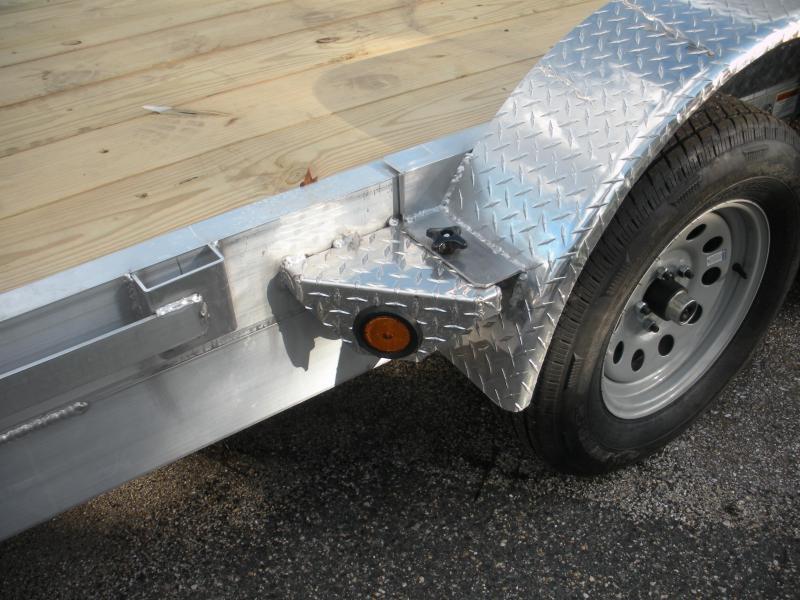 "2021 Quality Steel and Aluminum 83"" X 18' 7K Aluminum Open Car / Racing Trailer"