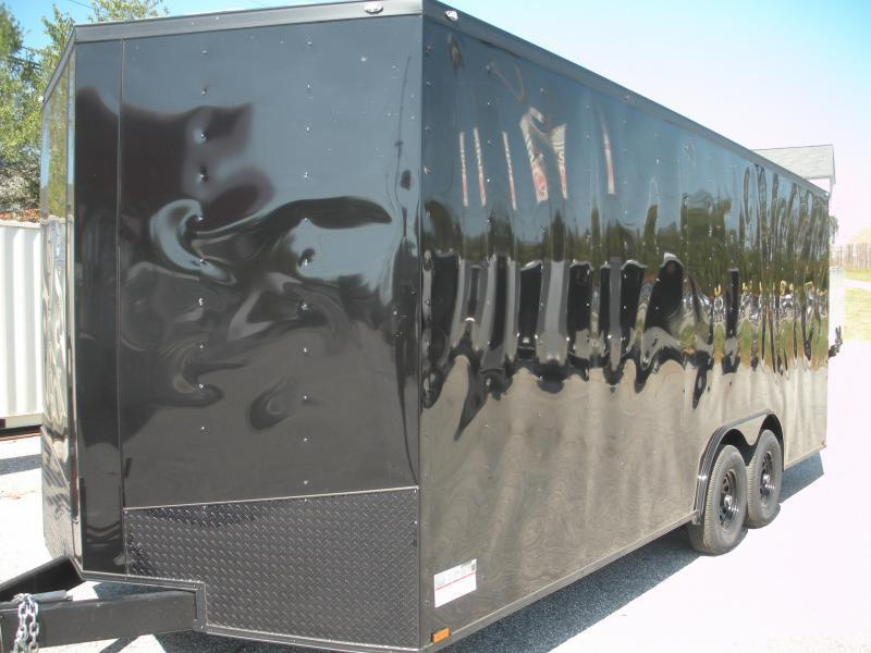 """SOLD"" Silver w/ Blk Trim Due 9/15 2020 Spartan 8.5' X 20' X 7' Height 7K Black/ Black Trim Car / Racing Trailer"