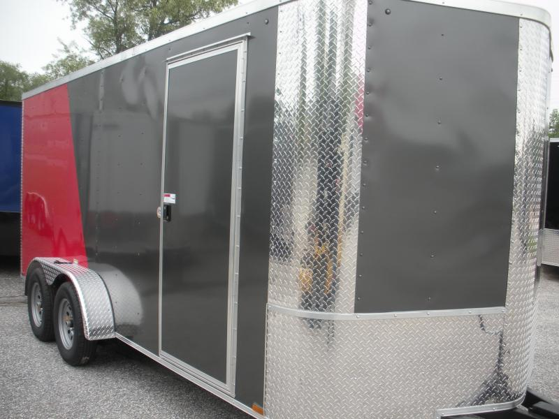 2020 Arising 7' X 16' 7K 6'6 w/E-Track Enclosed Cargo Trailer
