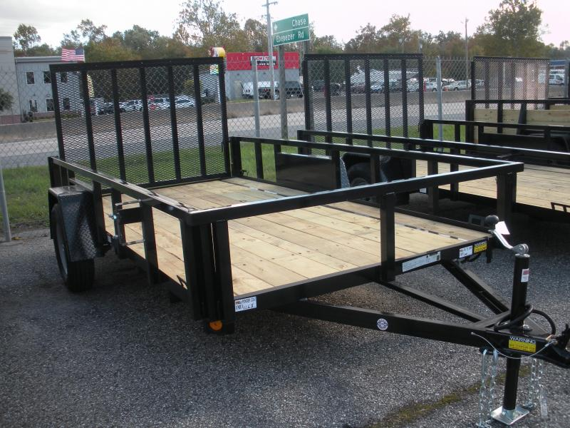 "2020 Quality Steel and Aluminum 74"" X 12' 3K Tube Steel Utility Trailer"