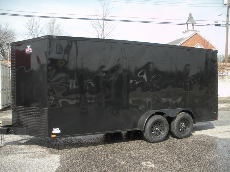 "2020 Anvil 7' X 16' ""Black Trim"" Enclosed Cargo Trailer"