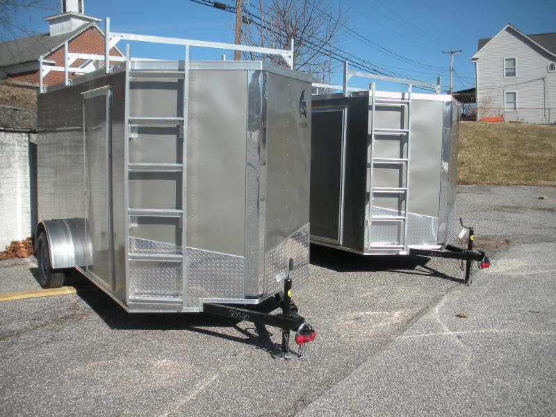 2021 Spartan 6' X 12' 3K Pewter *3 Ladder Racks* Aluminum Ladder* 4 Floor D Rings * Enclosed Cargo Trailer