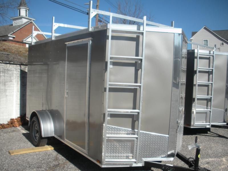 2021 Spartan 6' X 12' 3K Pewter *3 Ladder Racks* Aluminum Ladder* 4 Floor D Rings * Enclosed Cargo Trailer