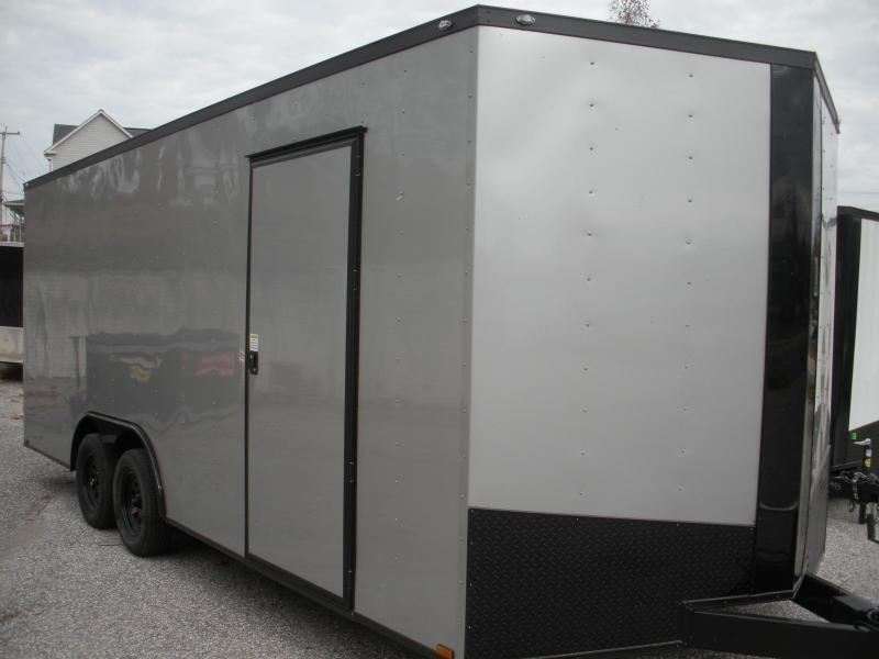 2021 Spartan 8.5' X 20' X 7' Interior Height 7K Silver/ Black Trim Car / Racing Trailer