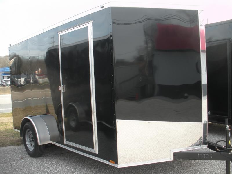 Due in Spring 2021 *2021  Spartan 7' X 12' 3K Black Semi-Screwless with 4 D Rings Enclosed Cargo Trailer