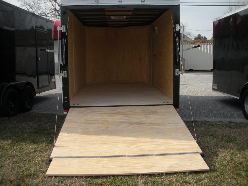 2020  Spartan 7' X 12' 3K Black Semi-Screwless with 4 D Rings Enclosed Cargo Trailer