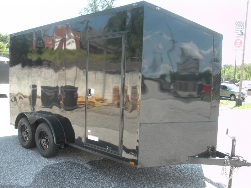 "2021 Anvil 7' X 14' X 7' Slanted V Nose ""Black Trim"" Enclosed Cargo Trailer"