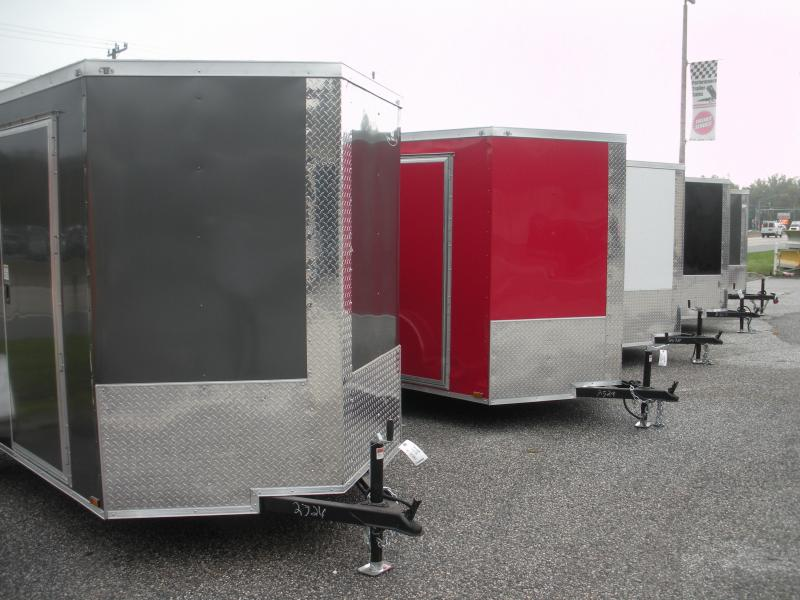 IN STOCK*Assorted Colors*LED's*Ramp*Side Door*2021 MCTL 6' X 12' Enclosed Cargo Trailer