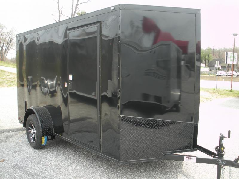 "This One Only At This Price! *2021 Spartan 6' X 12' ""Black Trim Pkg."" & Motorcycle Pkg. Enclosed Cargo Trailer"