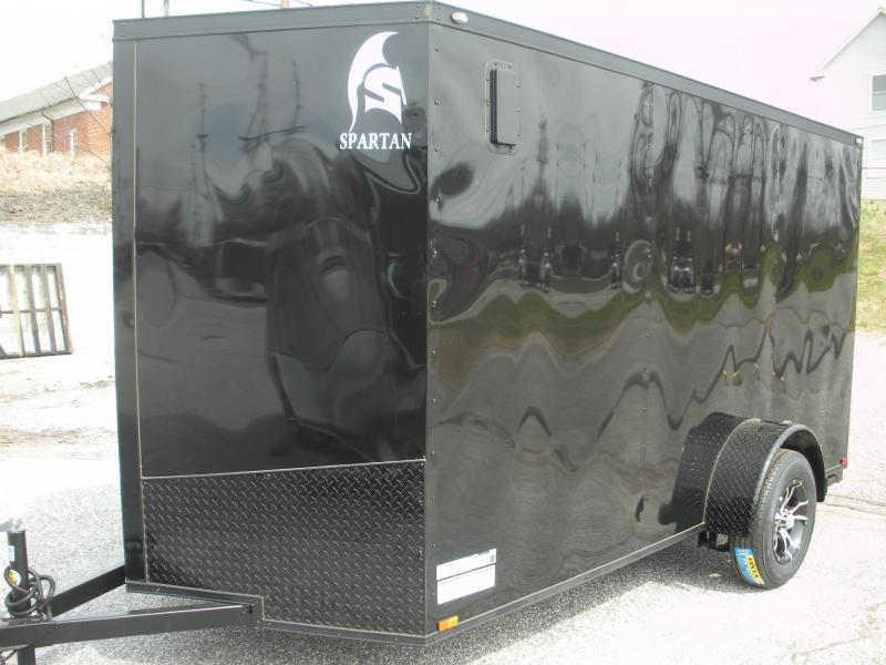 "2021 Spartan 6' X 12' ""Black Trim Pkg."" & Motorcycle Pkg. Enclosed Cargo Trailer"