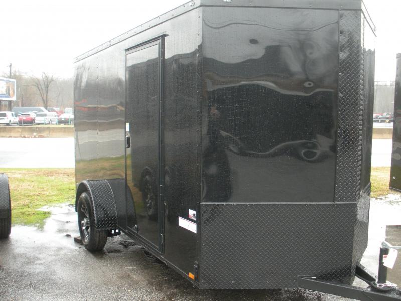 Due in January* 2021 Anvil 6' X 12' Enclosed Black With BLACKOUT Package Cargo Trailer