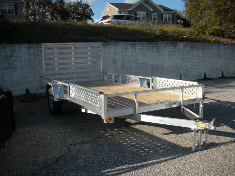 "2021 Quality Steel and Aluminum 82"" X 14' Utility Trailer with ATV Side Ramps"