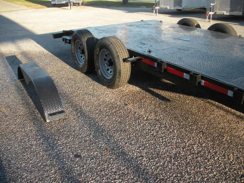 "In Stock Now*2021 QSA 83"" X 18' 10K *Adj. Coupler* 2 Removable Fenders*Steel Deck Open Car / Racing Trailer"