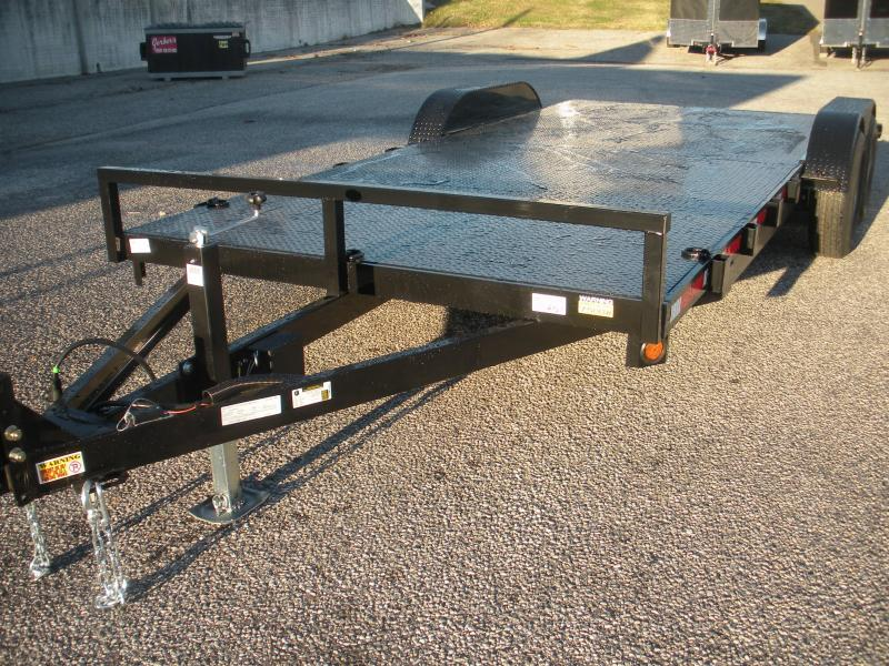 """HOT DEAL"" In Stock Now*2021 QSA 83"" X 18' 10K *Adj. Coupler* 2 Removable Fenders*Steel Deck Open Car / Racing Trailer"