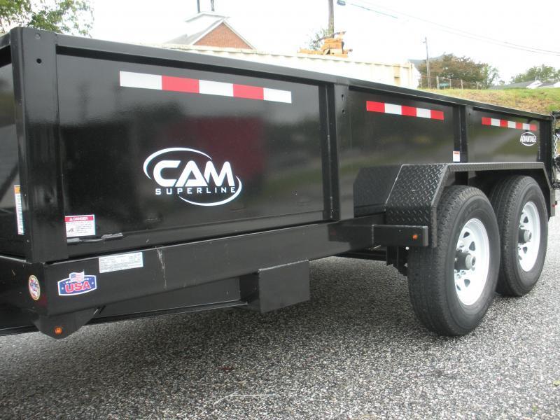 """2021 Cam Superline 81 1/2"""" X 12' 12K Heavy Duty Low Profile Dump Trailer"""