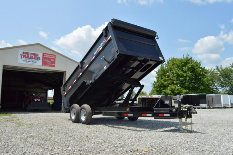 2021 Iron Bull 83X16 High Side Dump Trailer