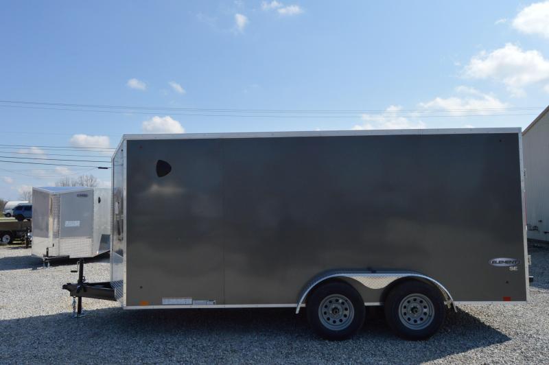 2021 Cargo Express 7X16 ELEMENT SE FLAT TOP Enclosed Cargo Trailer