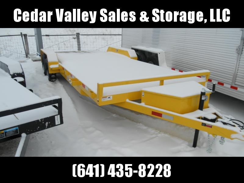 2021 H&H Trailer 82X18+2 DOVETAIL GENERAL DUTY CAR HAULER 7K YELLOW