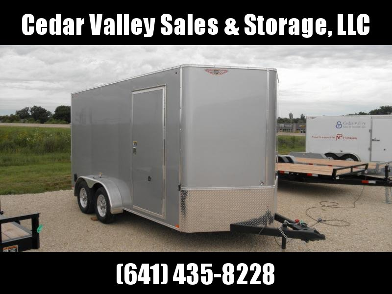 """2021 H&H 7x14 Cargo with 84"""" walls 7K Silver"""