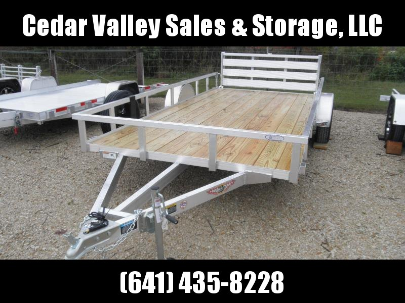 2022 H&H 82x14 Aluminum Rail Side Utility with Spare