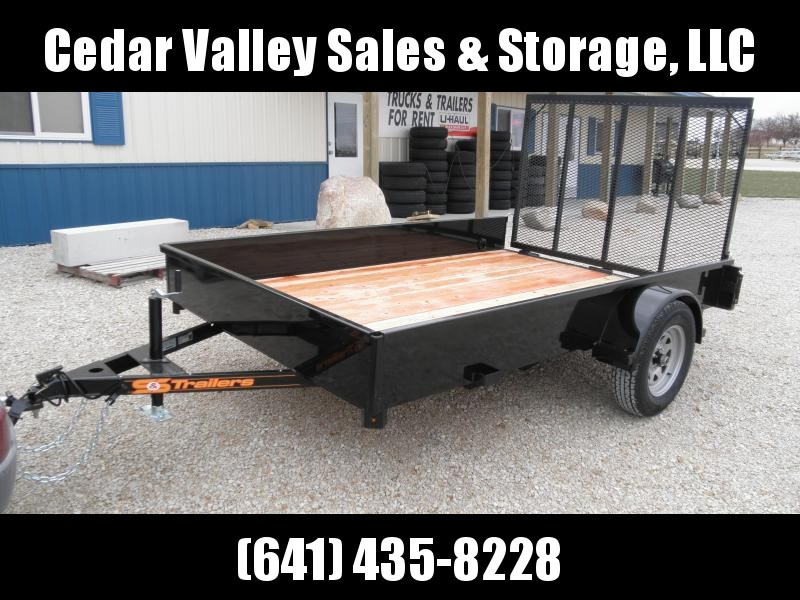 2021 S&S Manufacturing 77x10 Solid Side Utility Trailer