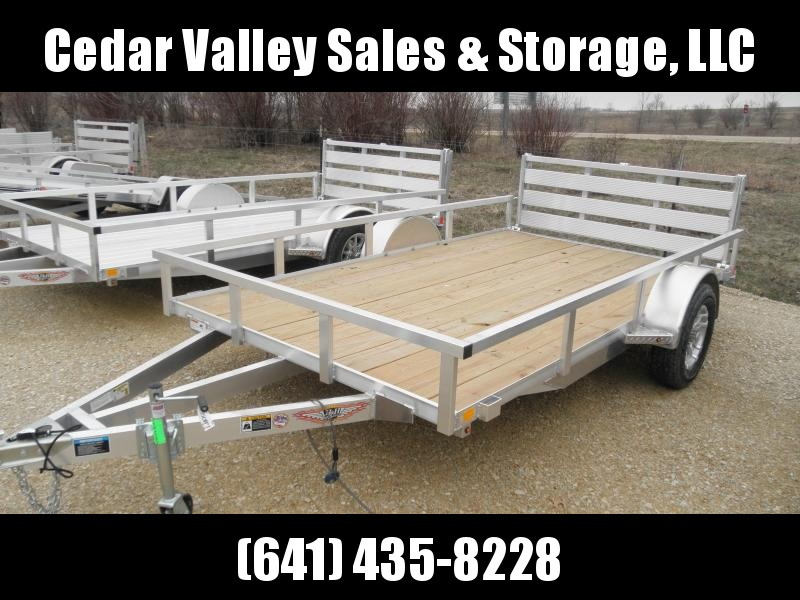 "2021 H&H 82"" X 12' Aluminum Rail Side Utility Trailer"