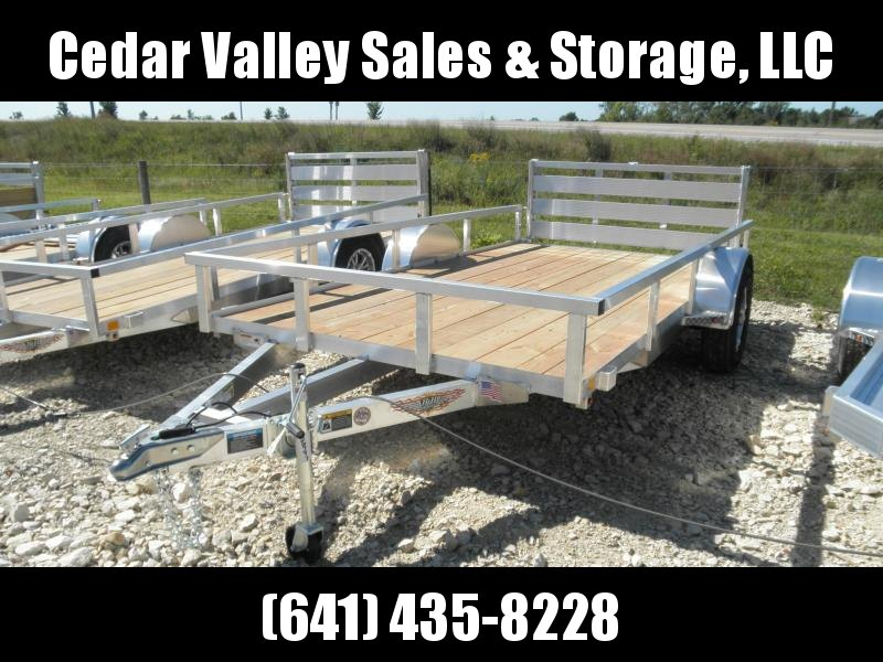 2020 H and H Trailer 76x12 Rail Side Aluminum Utility Trailer