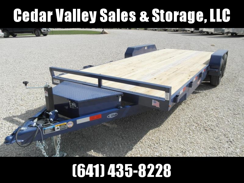2020 H and H Trailer H8218+2HDFD-100 Flatbed Trailer