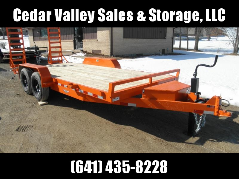 2021 H&H 82x16+2 Industrial Equipment Trailer 14K Orange with Toolbox