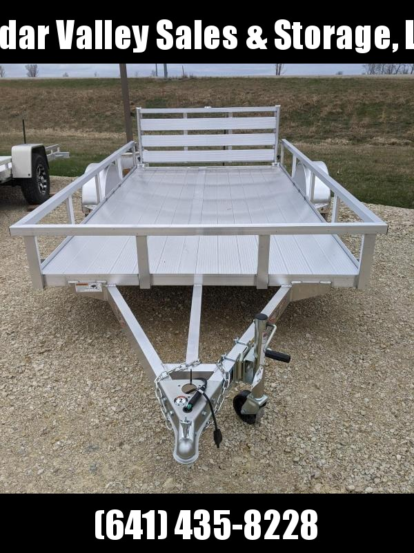 2021 H and H Trailer 76x12 Aluminum Rail Side Utility Trailer 3K Idler with Extruded Deck