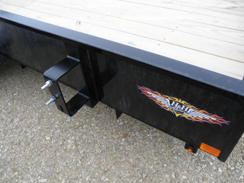 """2020 H&H Trailer 76"""" X 12' Solid Side Utility Trailer"""