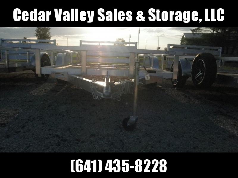 2022 H and H Trailer 76x12 Aluminum Rail Side Utility Trailer 3K Idler (H7612RSA-030) Utility Trailer