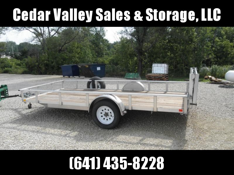 2015 H&H 76x14 Aluminum Rail Side Utility Trailer