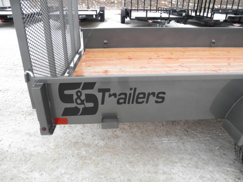 2022 S&S Manufacturing 82X14SAU Utility Trailer