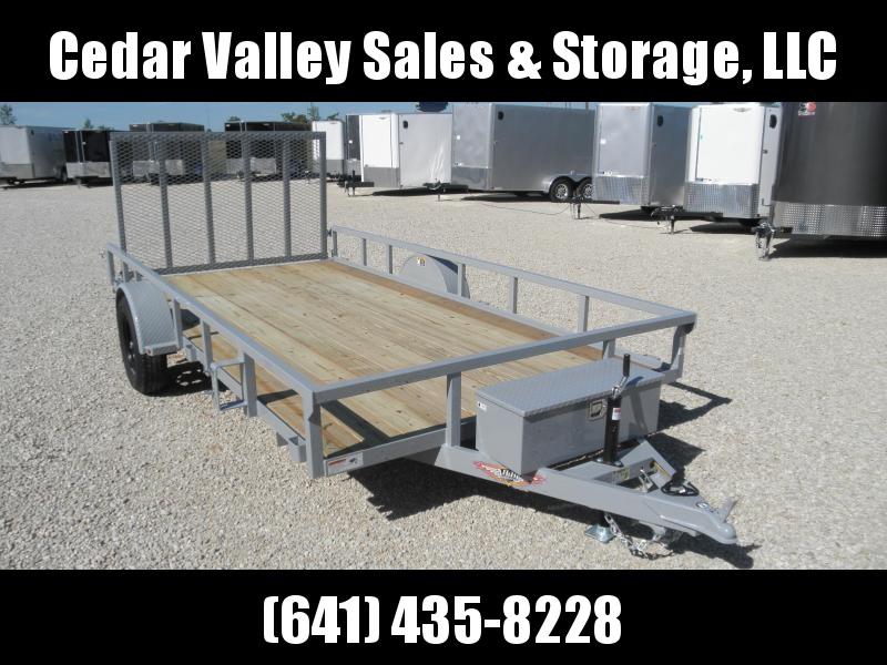 2021 H&H 82x14 Utility Trailer 3.5K with toolbox