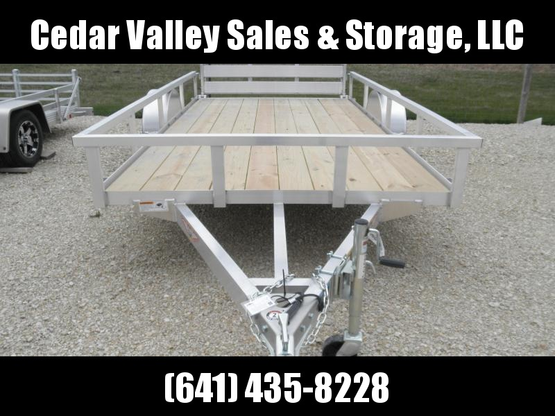 2021 H and H Trailer 76x12 Aluminum Rail Side Utility Trailer 3K Idler (H7612RSA-030) Utility Trailer
