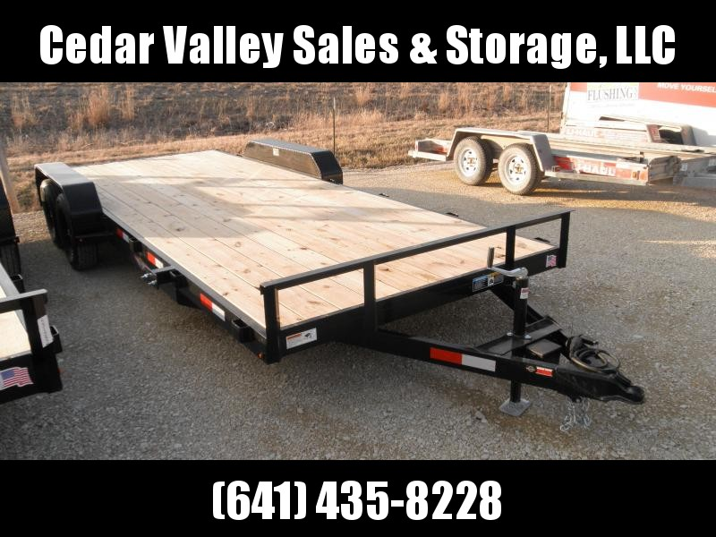 2020 H&H Trailer 20' General Duty Flatbed/Car hauler 7K  18+2' dove with Ramps