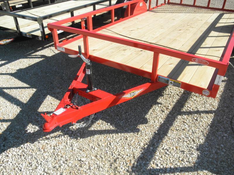 2022 H&H Trailer 82x14 Rail Side Utility Trailer RED POWDERCOAT