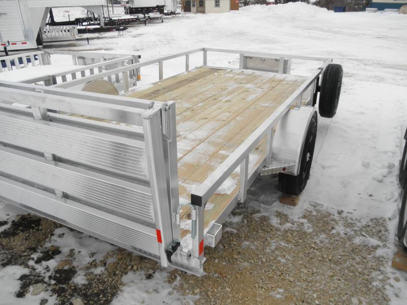 2021 H&H 82x14 Aluminum Rail Side Utility Trailer (H8214RSA-030) with toolbox and Spare