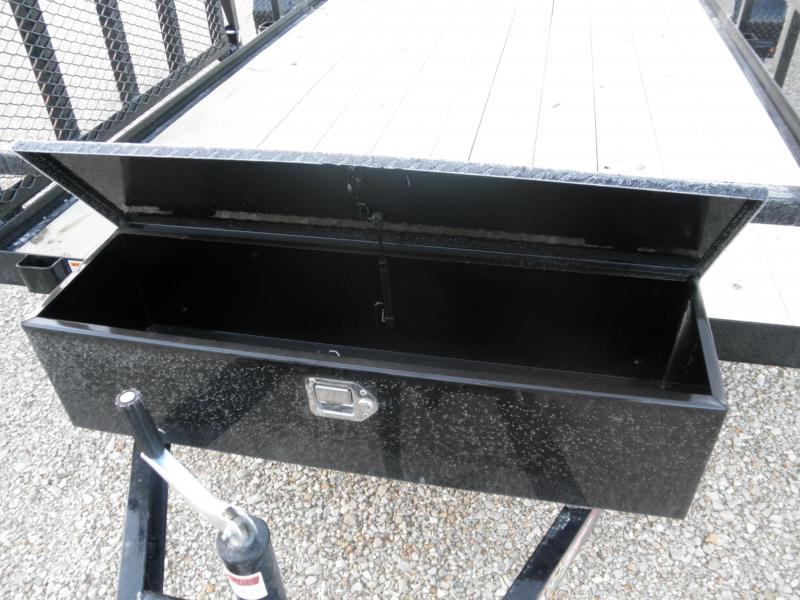 2021 H&H 82x16+2 Dovetail Rail Side Utility Trailer 7K Perfect for Landscapers