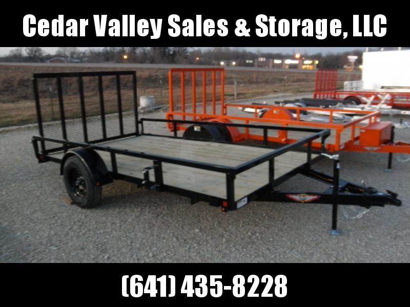 2021 H&H Trailer 82x12 Rail Side Utility Trailer 3K Idler (H8212RS-030)