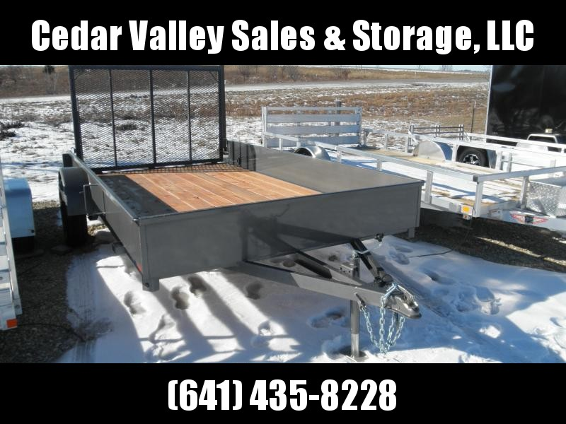 2022 S&S Manufacturing Solid Side 81x12 Utility Trailer