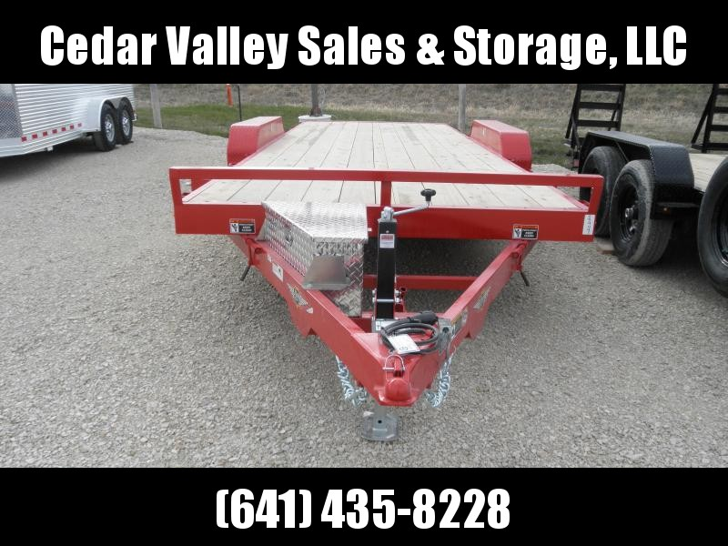 2021 H&H Trailer H8220MX-100 Car / Racing Trailer in RED